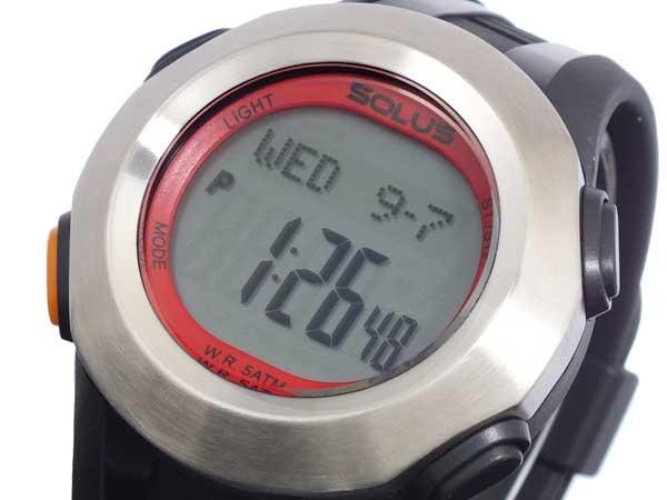 ソーラス SOLUS 心拍計測機能付き デジタル 腕時計 時計 01-101-002