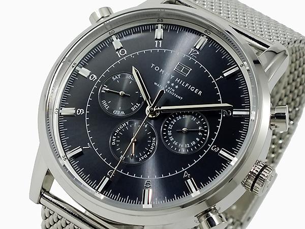 トミー ヒルフィガー 腕時計 メンズ 1790877 ブラック×シルバー【送料無料】