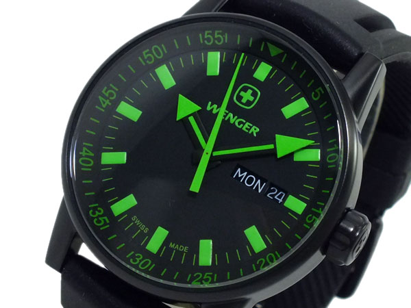 ウェンガー WENGER ラバーベルト 腕時計 メンズ 70172