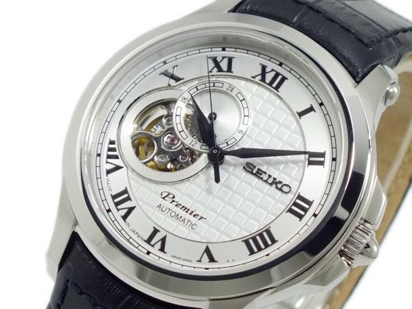 セイコー SEIKO プルミエ PREMIER 自動巻き 腕時計 SSA021J2 シルバー【送料無料】