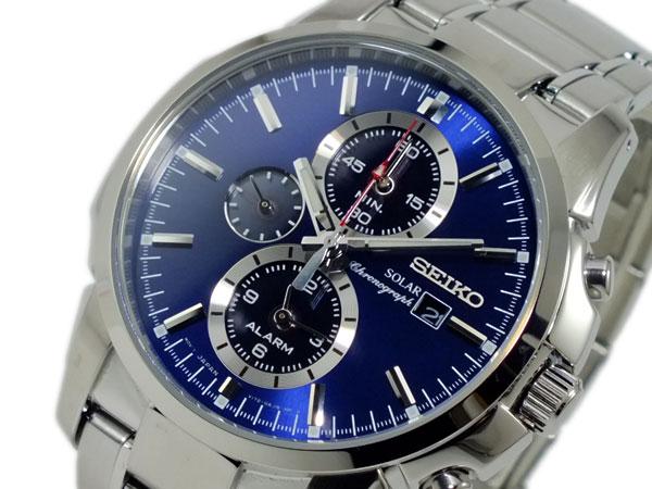 セイコー SEIKO ソーラー SOLAR クロノグラフ 腕時計 SSC085P1H2