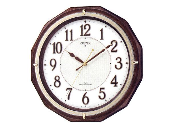 シチズン リバライトM801 自動点灯機能付 電波掛け時計 4MY801-006H2【送料無料】