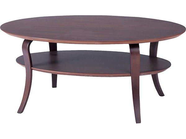 テーブル/オーバルテーブル センターテーブル リビング 北欧 NET-406BR 【代引き不可】 【送料無料】