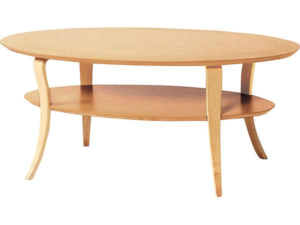 テーブル/オーバルテーブル センターテーブル リビング 北欧 NET-406NA 【代引き不可】 【送料無料】