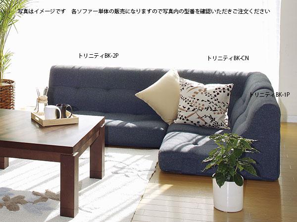 SOFA コーナーソファー トリニティBK-2P 【代引不可】【送料無料】