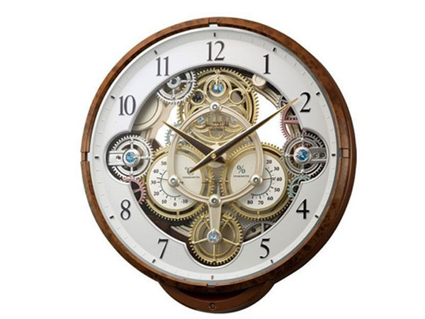シチズン CITIZEN リズム時計製 からくり電波掛け時計 4MN515RH23【送料無料】