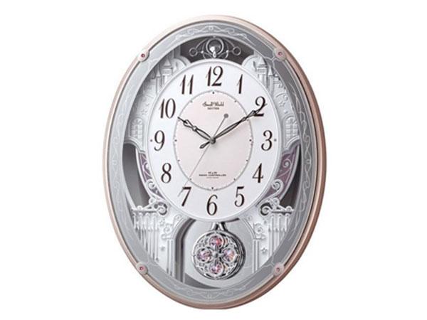 シチズン CITIZEN リズム時計製 メロディ電波掛け時計 4MN516RH13
