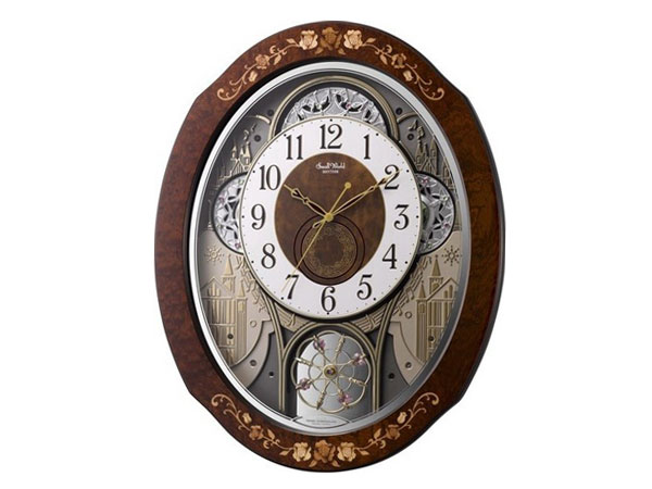 シチズン CITIZEN リズム時計製 からくり電波掛け時計 4MN521RH06【送料無料】