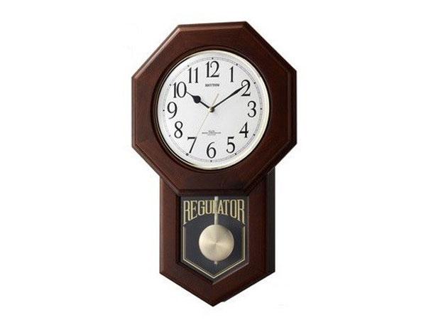 シチズン CITIZEN リズム時計製 電波掛け時計 モーランドR 4MNA06RH06【送料無料】