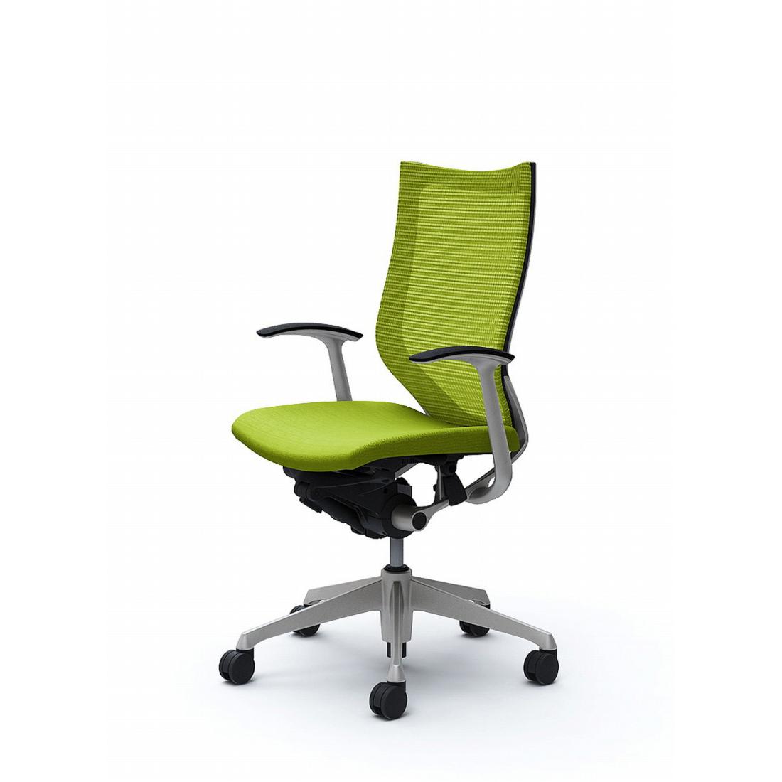 バロン バロンチェア CP45DR Baron【ハイバック】シルバーフレーム クッションシート デザインアーム オフィスチェア オカムラ(代引き不可)【送料無料】