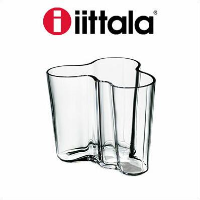 iittala イッタラ Alvar Aalto Collection フラワーベース クリア 95mm