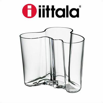 iittala イッタラ Alvar Aalto Collection フラワーベース クリア 120mm