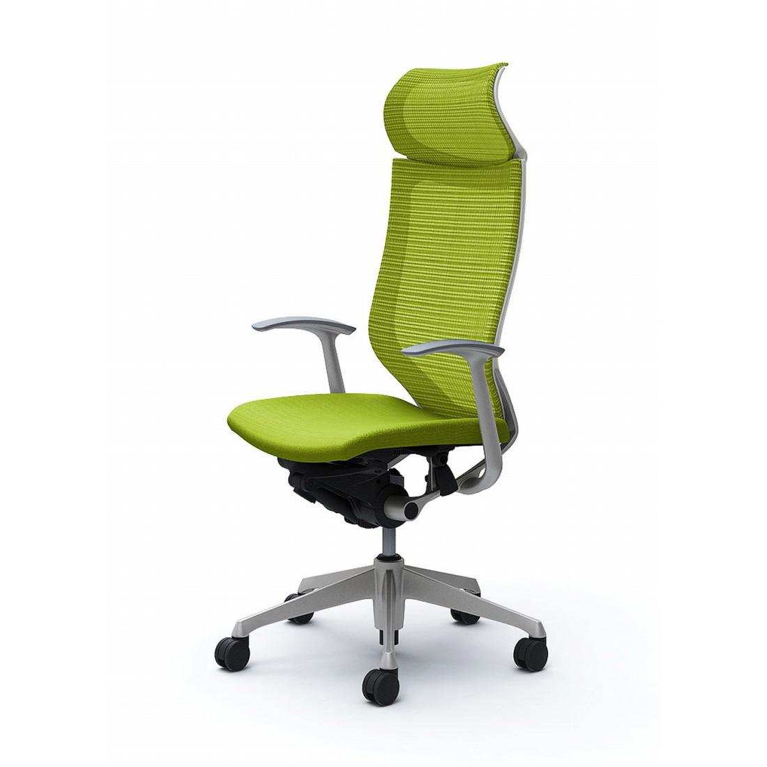 バロン オフィスチェア CP47DW 固定ヘッドレスト 固定肘 座クッション シルバー ブラックフレーム:シルバー ホワイトフレーム(代引不可)【送料無料】