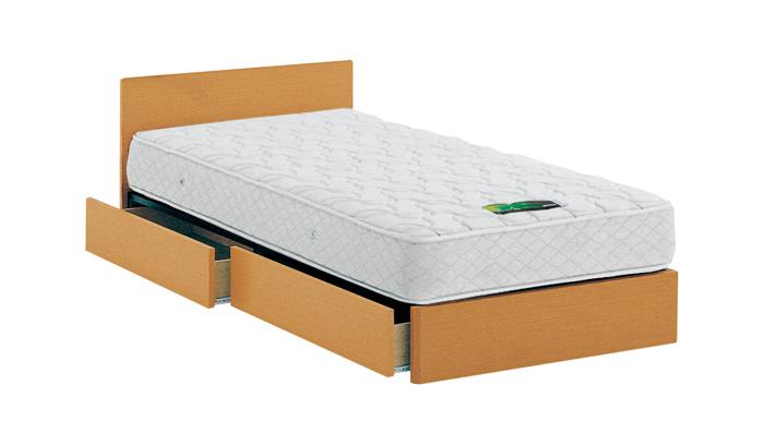 ASLEEP アスリープ ベッドフレーム シングルサイズ チボー FYAH31DC ナチュラル 引出し付き アイシン精機 ベッド(代引不可)【送料無料】【int_d11】