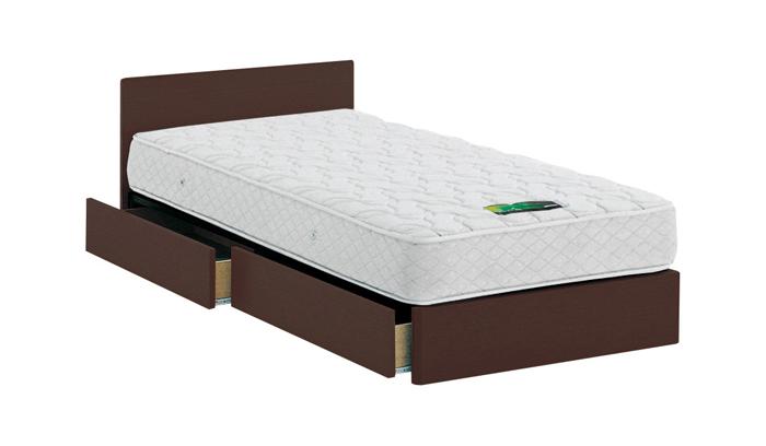 ASLEEP アスリープ ベッドフレーム ダブルロングサイズ チボー FYAH48DC ダークブラウン 引出し付き アイシン精機 ベッド(代引不可)【送料無料】