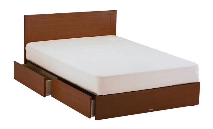ASLEEP アスリープ ベッドフレーム ダブルサイズ マリン FY15H3DC ミディアムブラウン 引出し付き アイシン精機 ベッド(代引不可)【送料無料】
