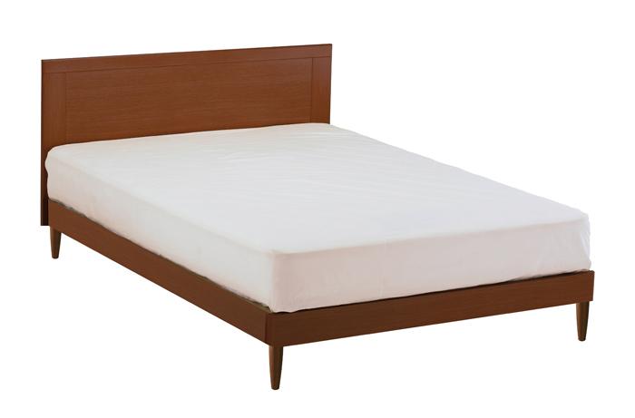 ASLEEP アスリープ ベッドフレーム ダブルサイズ マリン FY15P3DC ミディアムブラウン 脚付き アイシン精機 ベッド(代引不可)【送料無料】