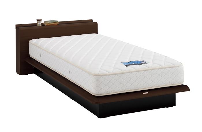 ASLEEP アスリープ ベッドフレーム セミダブルサイズ テーベ FY9212EC ダークブラウン 引出し無し アイシン精機 ベッド(代引不可)【送料無料】