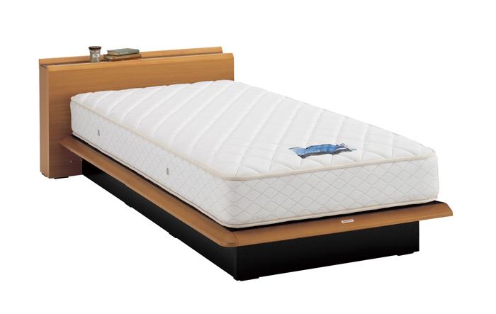 ASLEEP アスリープ ベッドフレーム セミダブルサイズ テーベ FY9222EC ナチュラル 引出し無し アイシン精機 ベッド(代引不可)【送料無料】