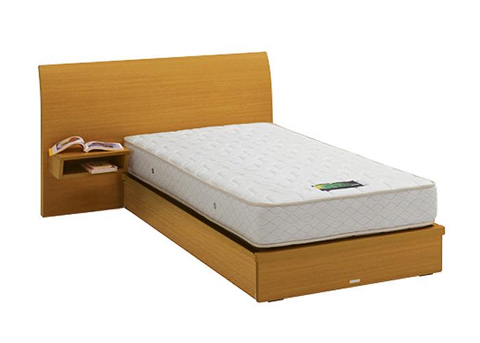 ASLEEP アスリープ ベッドフレーム シングルサイズ ロマノフ FS4GYEDC ナチュラル 引出し無し・テーブル付 アイシン精機 ベッド(代引不可)【送料無料】