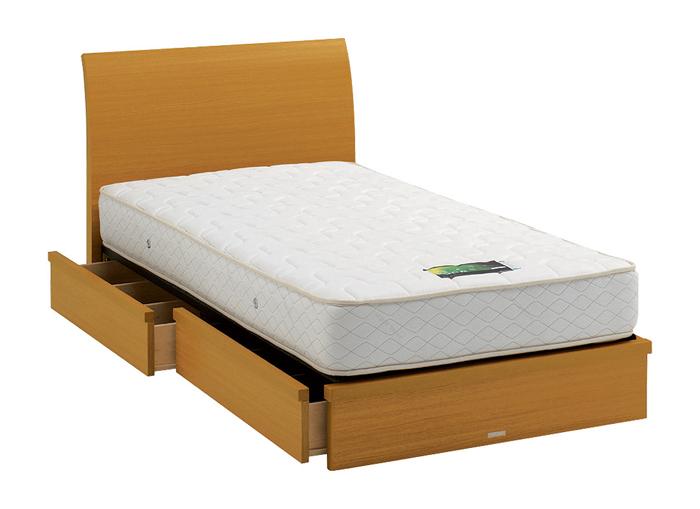 ASLEEP アスリープ ベッドフレーム ダブルサイズ ロマノフ FS4HY3DC ナチュラル 引出し付き アイシン精機 ベッド(代引不可)【送料無料】