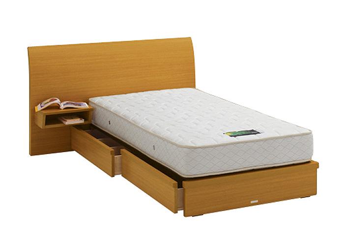 ASLEEP アスリープ ベッドフレーム シングルサイズ ロマノフ FS4HYEDC ナチュラル 引出し付き・テーブル付 アイシン精機 ベッド(代引不可)【送料無料】