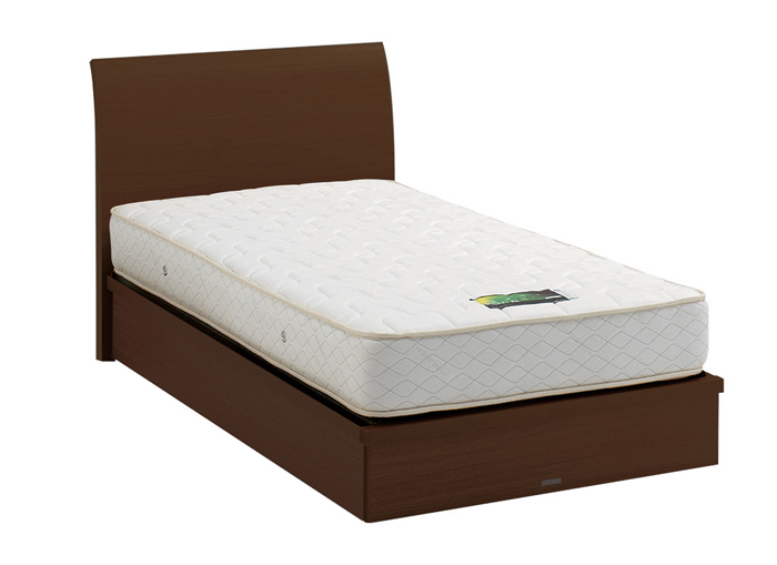 ASLEEP アスリープ ベッドフレーム セミダブルサイズ ロマノフ FS6GY2DC ミディアムブラウン 引出し無し アイシン精機 ベッド(代引不可)【送料無料】