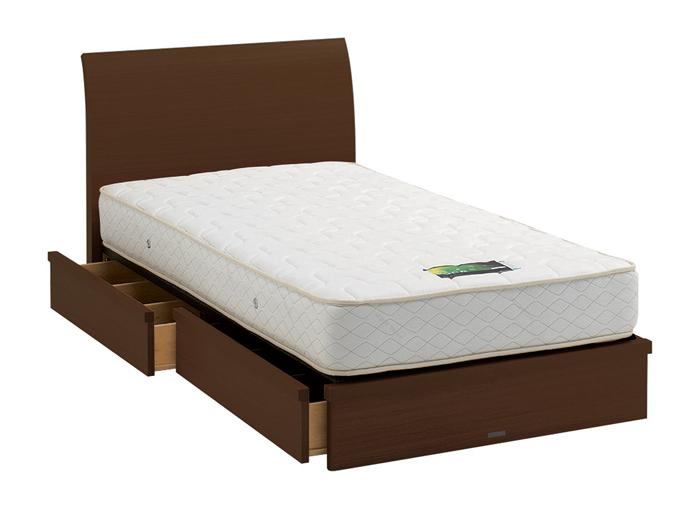 ASLEEP アスリープ ベッドフレーム ダブルサイズ ロマノフ FS6HY3DC ミディアムブラウン 引出し付き アイシン精機 ベッド(代引不可)【送料無料】【int_d11】