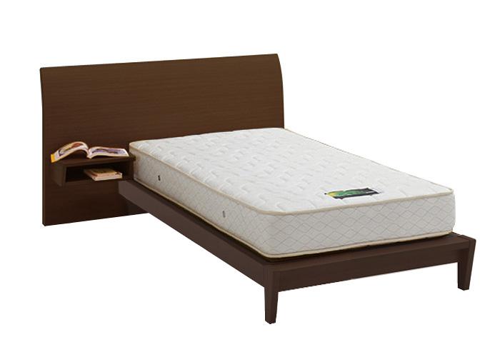 ASLEEP アスリープ ベッドフレーム シングルサイズ ロマノフ FS6PYEDC ミディアムブラウン 脚付き・テーブル付 アイシン精機 ベッド(代引不可)【送料無料】
