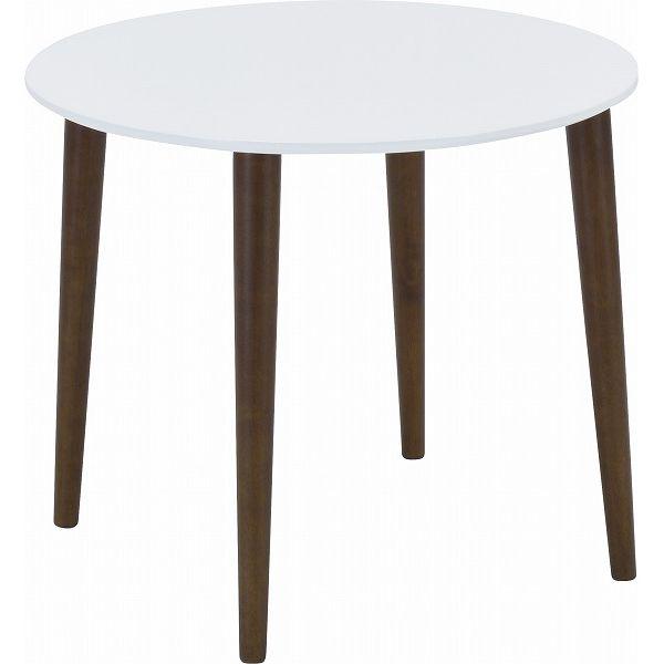 ミキモク ダイニングテーブル サライ ホワイト ブラウン 85cm DT-85398PUW L-0398TBR 【2梱包】(代引不可)【送料無料】