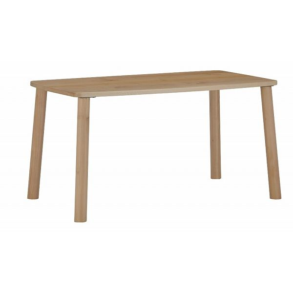 ミキモク ダイニングテーブル 楓の森 ナチュラル 角タイプ 80×140cm KMT-1400 KML-744 KNA(代引不可)【送料無料】