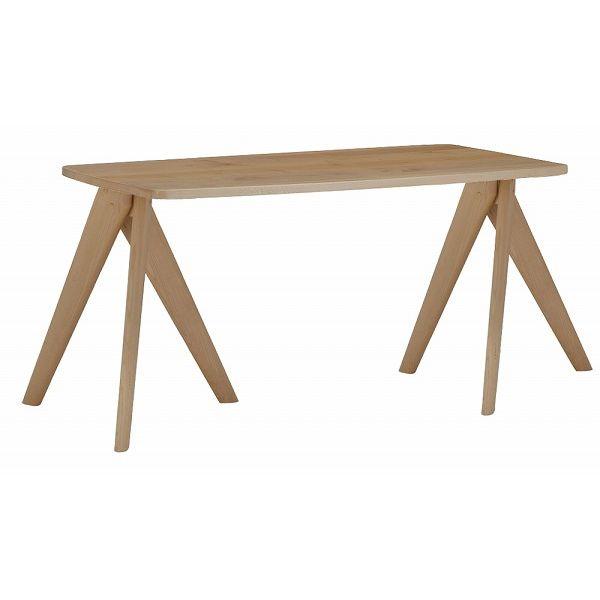 ミキモク ダイニングテーブル 楓の森 ナチュラル 角丸タイプ 80×160cm KMT-1610 KML-732 KNA(代引不可)【送料無料】