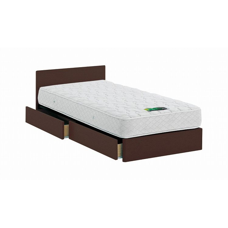 ASLEEP アスリープ ベッドフレーム ロイヤルサイズ チボー FYAH4DDC ダークブラウン 引出し付き アイシン精機 ベッド(代引不可)【送料無料】