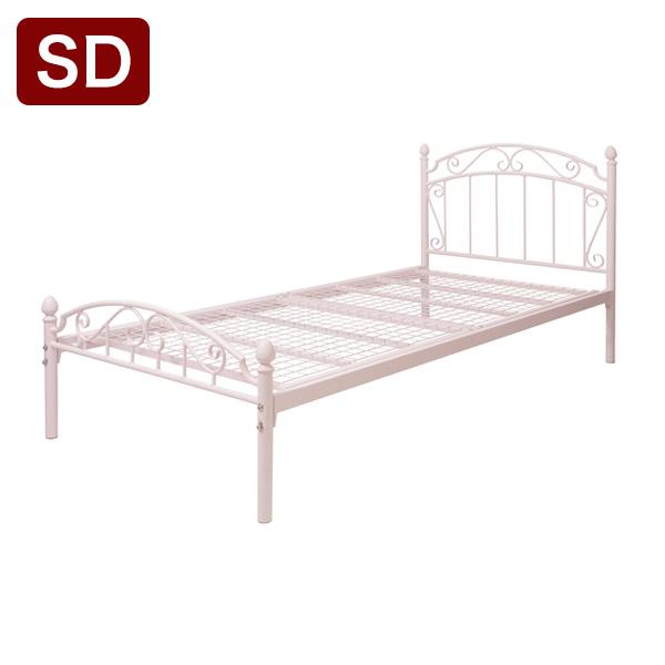 ティアラベッド Charles(シャルル) セミダブル フレームのみ ベッド ベッドフレーム シングルベッド 姫系 キュート(代引不可)【送料無料】
