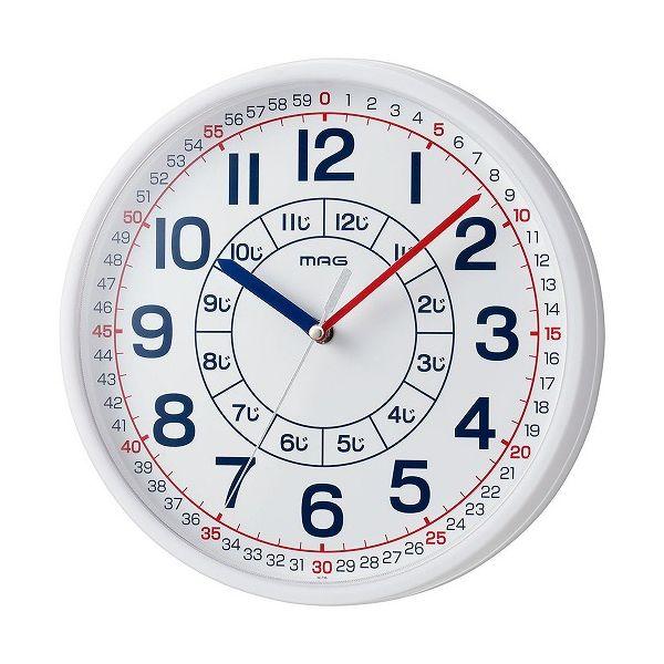 最新アイテム お求めやすく価格改定 ノア精密 掛け時計 ホワイト 知育時計 よ~める おうちのかたへのアドバイスシート入り W-736 子ども WH-Z 時計 子供 壁掛け時計 キッズ