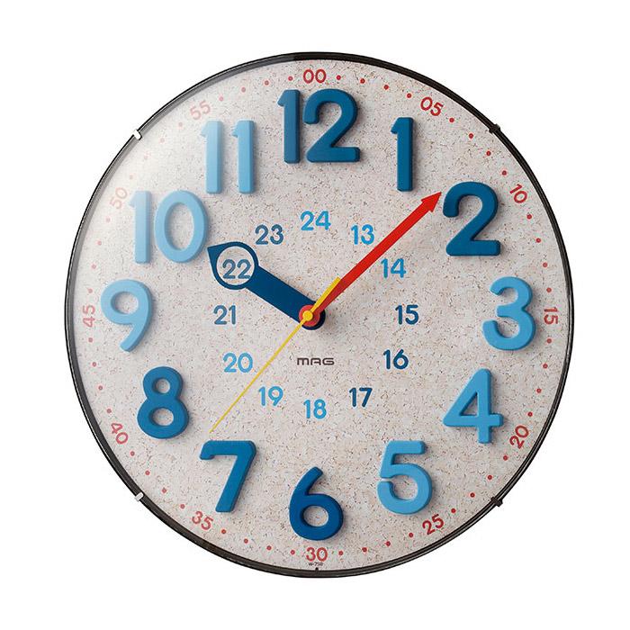 送料無料 ノア精密 MAG 掛け時計 アナログ電波ウォールクロック 正規取扱店 N 電波時計 かわいい W-750 爆買い送料無料 夜間秒針停止機能