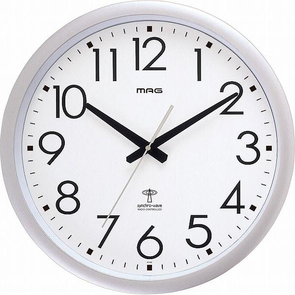 送料無料 ノア精密 ウェーブ420 MAG 在庫一掃売り切りセール ウォールクロック 在庫処分 電波時計 W-462 SM