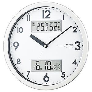 ノア精密 国内送料無料 ダブルメジャー 店 MAG 掛時計 ホワイト WH W-631