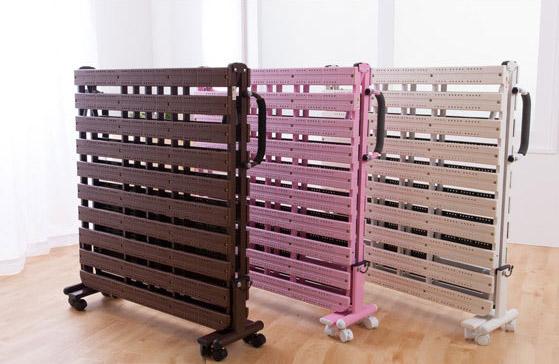 抗菌防カビ素材 折りたたみ樹脂すのこベッド シングル 【送料無料】