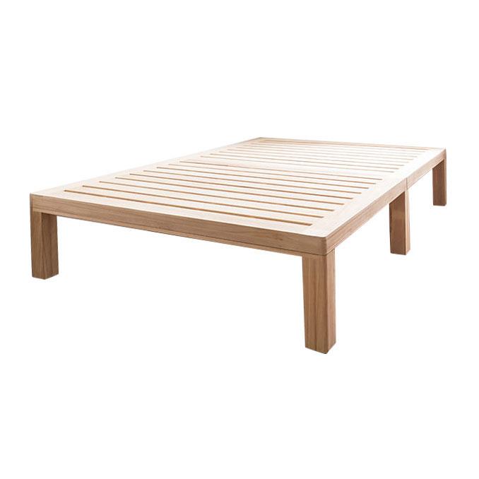 天然木 層桐すのこベッド ダブル(代引き不可)(代引き不可)【送料無料】