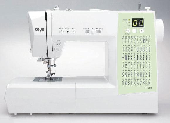 TOYO ミシン コンピューターミシン TY251(代引き不可)【送料無料】