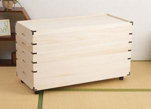 桐キャスター付き衣装箱 5段 HI-0032 日本製 完成品【送料無料】【storage0901】