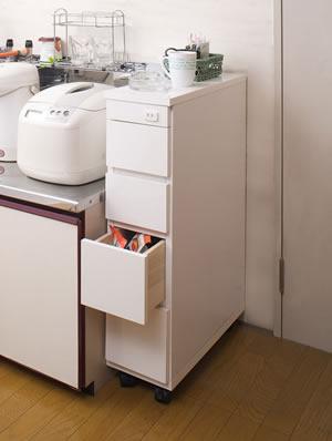シンク横チェスト 幅20.5cm SA-0001 日本製 完成品【送料無料】【storage0901】