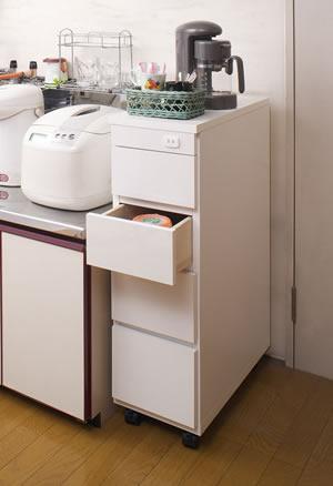 シンク横チェスト 幅25.5cm SA-0002 日本製 完成品【送料無料】【storage0901】