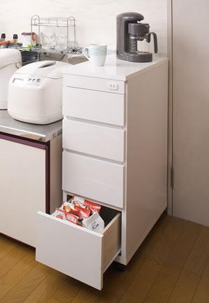 シンク横チェスト 幅30.5cm SA-0003 日本製 完成品【送料無料】【storage0901】