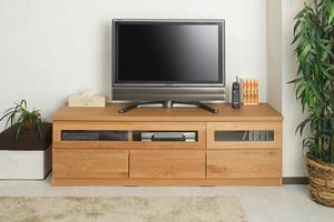 天然木テレビボード 150.5cm幅 ナチュラル色【送料無料】【日本製】【完成品】【tvboard0901】
