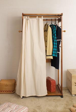 カーテン付きハンガーラック ブラウン TO-0035【送料無料】【storage0901】