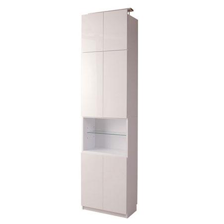 壁面収納 オープンガラス棚タイプ 60cm幅 ホワイト色【送料無料】【storage0901】