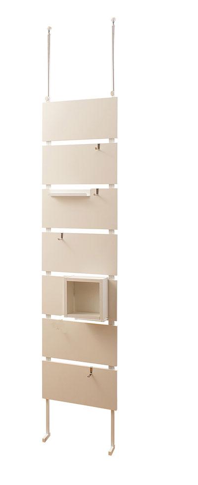 突っ張りウォールパーテーション 幅45cm ホワイト色【送料無料】