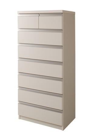 デザインチェスト 60cm 7段 ホワイト【送料無料】